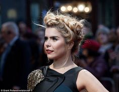 Elaborate updo: Paloma coiffed her blonde locks in a striking braided style. Perfect Hair Color, Paloma Faith, Eccentric Style, London Film Festival, Glamorous Dresses, Old Singers, Wrinkle Remover, Braid Styles, Glamour
