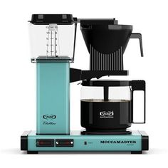 Technivorm Moccamaster KBG-741 AO Coffee Brewer - Turquoise - http://teacoffeestore.com/technivorm-moccamaster-kbg-741-ao-coffee-brewer-turquoise/