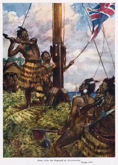 The Maori chief Hone Heke starts a war by chopping down the British flagpole at Kororāreka.