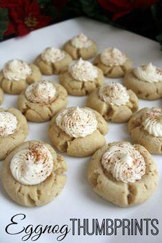 Eggnog Thumbprint Cookies | White Lights on Wednesday