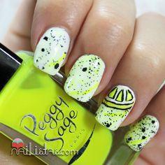 Nailistas | Lemonade Nail Art | Neon Nail Polish | Yellow