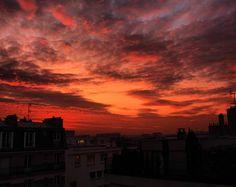 #paris #mysky#myparis ##sunset #coucherdesoleil #ciel #sky #instalike #beautifulsky #milenaguideparis #clouds #залез #небе #слънце #sunsets