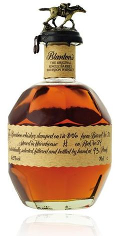 Blanton's Single Barrel Bourbon is, as the name implies, aged in a single barrel and then bottled, rather than blended with other barrels before bottling. Blanton's is the first bourbon ever marketed as a single barrel offering, hitting the market. Alcohol Bottles, Liquor Bottles, Fun Drinks, Alcoholic Drinks, Blanton's Bourbon, Single Barrel Bourbon, Small Batch Bourbon, Thirsty Thursday, Scotch Whiskey