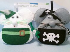 Peter Pan and Pirate Mouse #felt #sewing #diy