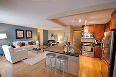 Marmoraria PJ: As cozinhas americanas integrada com a sala de jan...