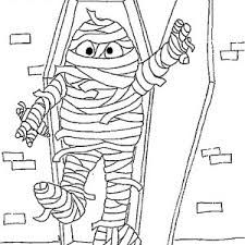 Doodle the cat mummy coloring page to color print or download