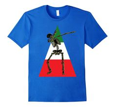 Dabbing Skeleton Cinco de Mayo Shirt Mexican Flag Cool
