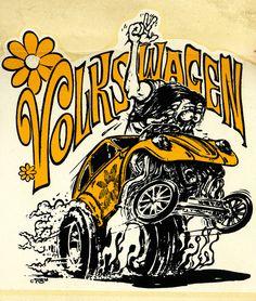 ☮ American Hippie ☮ Ed Wroth Rat Fink art .. Volkswagen