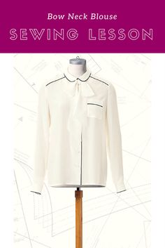 Follow this sewing lesson to make our Bow Neck Contrast Blouse pattern that debuted in our Blouse Bonanza pattern collection from the June 2017 issue of BurdaStyle Magazine. Check out all the great diagrams to help you sew this blouse for any occasion.