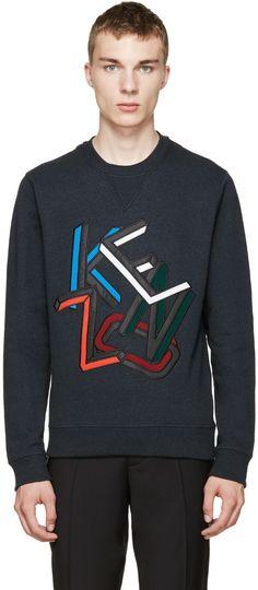 Kenzo Teal Logo Sweatshirt