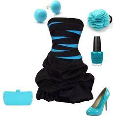 This dress, and shoes and nail polish