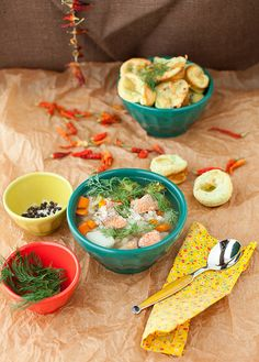 Salmon and Barley: #soup #recipe
