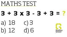 Maths test!
