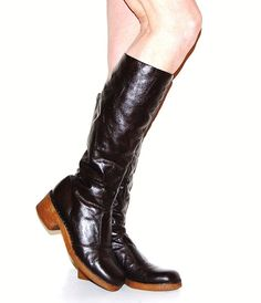 Vintage Boots Brown Fashion 60s by CheekyVintageCloset on Etsy, $42.00