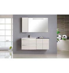 Ensemble de salle de bain FARIETE, blanc