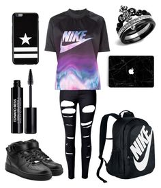 """""""Nike"""" by crystalgem12 ❤ liked on Polyvore featuring WithChic, NIKE, Edward Bess and Givenchy"""
