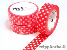 Polka dot, iso valkoinen (punainen) masking tape 3,60 €