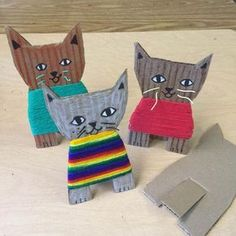 Cardboard Kittens - Art Projects for Kids