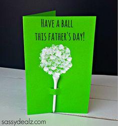 Fingerprint Golf Ball Father's Day Card - Sassy Dealz