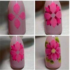Rocks and MK en Instagra - Best Nail Art Nail Art Diy, Cool Nail Art, Diy Nails, Cute Nails, Butterfly Nail, Flower Nail Art, Beautiful Nail Designs, Beautiful Nail Art, Karma Nails