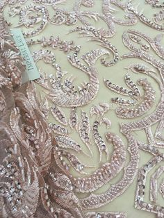 3D lace fabric Beaded Lace Fabric French Lace Wedding Lace Beaded Lace Fabric, Fabric Beads, Wedding Lace, Lace Weddings, Aster, French Lace, 3d, Trending Outfits, Unique Jewelry