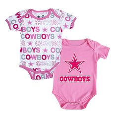 7620607e6 NFL Dallas Cowboys Cutie Patootie 2-Pack Set in blue or pink at shop.