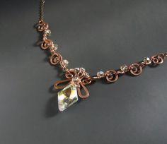 Crystal necklace Swarovski crystal jewelry by VeraNasfaJewelry