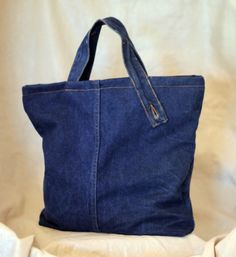 Made from the leg of an adult pair of jeans Tote N' Jeans
