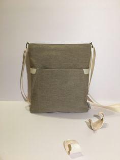 Handmade in Ireland · Brown beige crossbody handbag Minimalist design  Simply elegant purse everyday Great gift for women fd761e09ac104