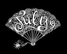 Typographic Art :: July - by Sarah Coleman, Fashion Illustrator