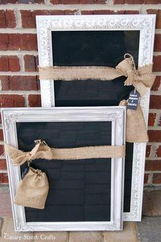 """Framed Dry Erase """"Chalkboards"""""""