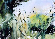 Field Corner, watercolour landscape by Adrian Homersham