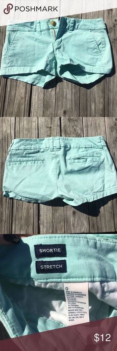 American eagle shorts Good condition American eagle Tiffany blue shorts. Has tiny unnoticeable spot on top of pocket American Eagle Outfitters Shorts