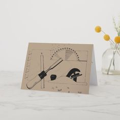 Create your own unique greeting on a Tools card from Zazzle. From birthday, thank you, or funny cards, discover endless possibilities for the perfect card! Woodworking Plans, Woodworking Projects, Working Games, Project Table, Kids Wood, Custom Greeting Cards, Carpentry, Thoughtful Gifts, Wood Crafts