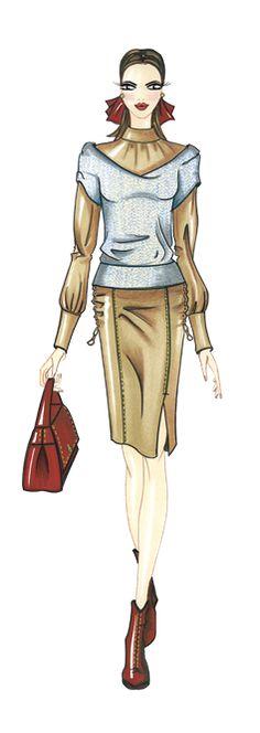 coleccion de moda: fashion and illustration by paola castillo