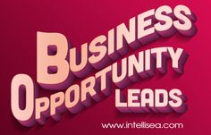 Look at this web-site http://www.intellisea.com/services-b2b-lead-generation/ for more information on Business opportunity leads. Building a business requires you to obtain the appropriate Business opportunity leads. Follow us : http://list.ly/intelliseanalytics/lists