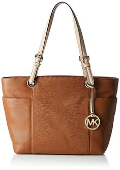 ad1a25df351c Michael Kors Jet Set Top Zip Tote Luggage Brown Leather  Amazon.co.uk  Shoes    Bags