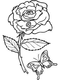 Dibujos y Plantillas para imprimir: rosas
