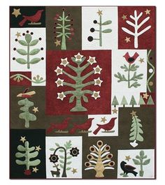 Festival of Trees Silk and Wool Matka Quilt