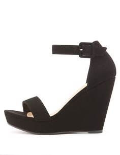Two-Piece Wedge Sandals   Charlotte Russe