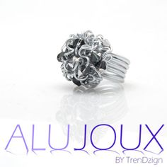 Aluminium ring from Alujoux collection with swarovski stones. Very classy!
