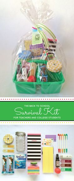 Back to school survival kit for teachers or college students. Pamela Smerker Designs