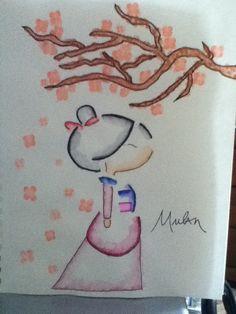 Mulan watercolor drawing (using markers)