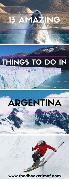 Argentina is a mind-blowing destination in South America. Travel through the country, eat the food, soak up the culture - here are the 13 things you simply shouldn't miss. Read more.