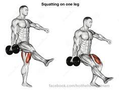 Squat una pierna cuadriceps