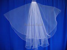beautiful white wedding Veil #weddings #brides