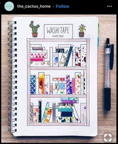 Washi tape has become one of the most popular bullet journal supplies. displaying your washi tape collection in your bullet journal not only looks pretty, Diy Bullet Journal, Bullet Journal Washi Tape, Bullet Journal Spread, Bullet Journal Layout, Bullet Journal Inspiration, Bellet Journal, Weekly Log, Ideas Scrapbook, Scrapbooking Layouts