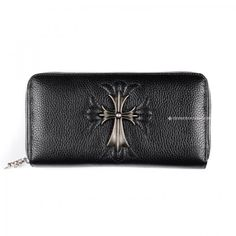 fb6fe8c0328d Popular Chrome Hearts Sacred Cross Black Cattle-hide Wallet Sale