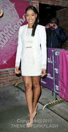 KeKe Palmers all white outfit