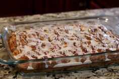 Cinnamon roll casserole: Oh my goodness, y'all. Like, crazy delicious good. In my not-so-humble and always-correct opinion, this is way better than your typical cinnamon roll. I took this to my Sunday . What's For Breakfast, Breakfast Dishes, Breakfast Casserole, Breakfast Recipes, Dessert Recipes, Yummy Recipes, Morning Breakfast, Recipies, Breakfast Biscuits